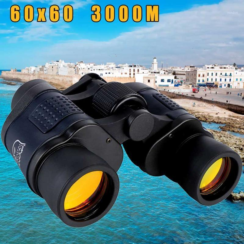 Telescópio binóculos 60x60 visão nocturna óptica alta clareza 3000m impermeável poder definição outdoor hunting1