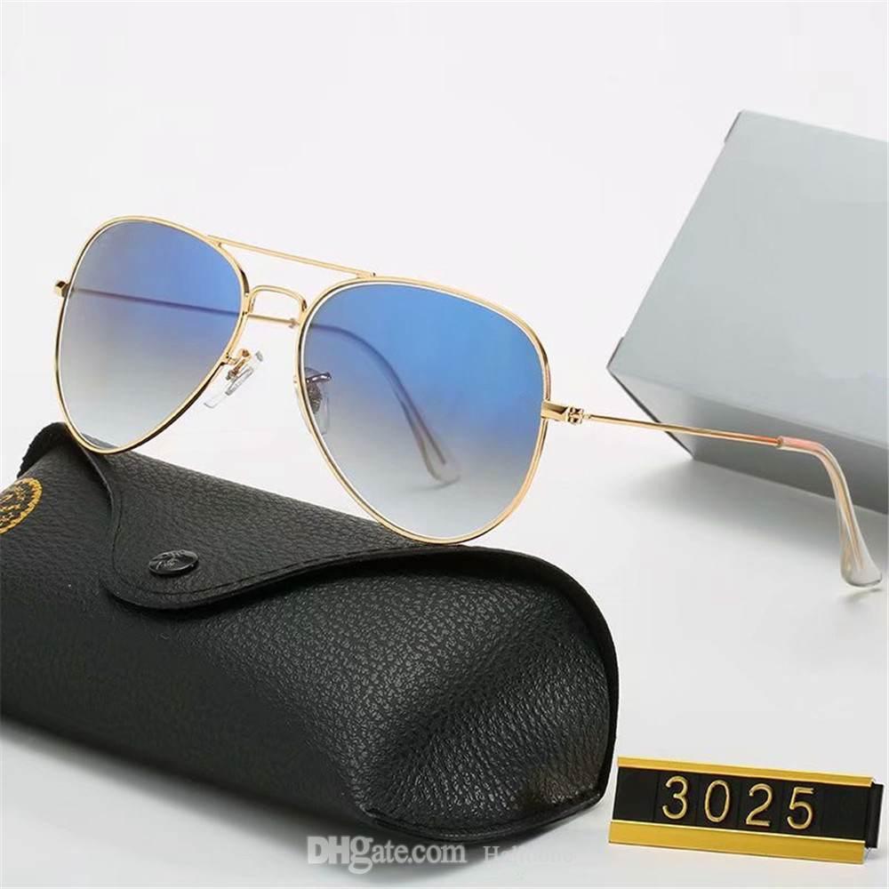 2021 Marke Polarized Sonnenbrille Männer Frauen Pilot Sun Uv400 Eyewear Design Treiber Brille Metallrahmen Polaroidobjektiv