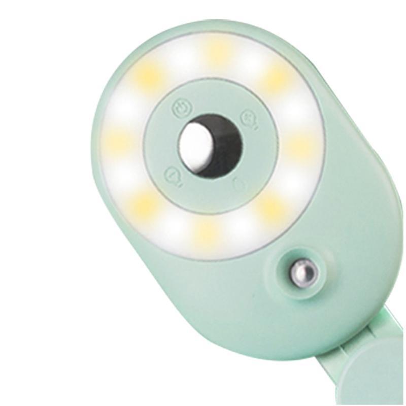 Canlı Akış Dolum Işık Telefon için Dim Selfie Cilt Bakımı Çevrimiçi Konferans Yayını LED Geniş Açı Lens Taşınabilir