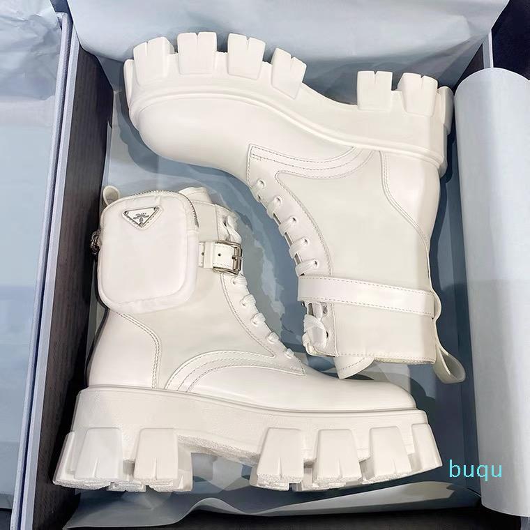 Tasarımcı-Kadın Çizmeler Deri Çöl Boot ile Kayış Lüks Kaymaz Kış Ayakkabı