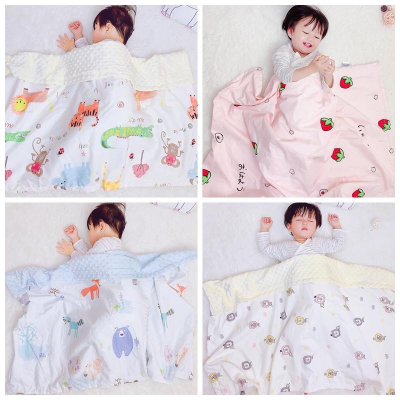 طفل القطن بطانية لينة تكييف الهواء بطانية الأطفال زهرة المطبوعة أطفال الطفل الراحة قيلولة بطانيات لحاف رياض الأطفال 75 * 110 سنتيمتر YL443
