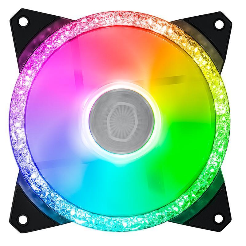 Вентиляторы Охлаждающие Охладитель Master Masterfan MF120 ARGB 12см Чехол вентилятор двойной Алмазное кольцо Освещение синхронизации адресуемых RGB 120 мм Шасси охлаждение