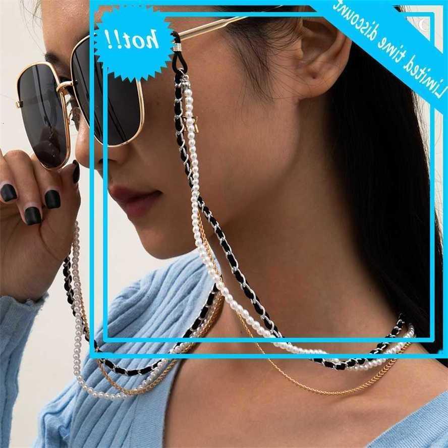 Панк жемчуг Винтаж Приморский праздник Очки для чтения очки Солнцезащитные очки зрелище держатель корда