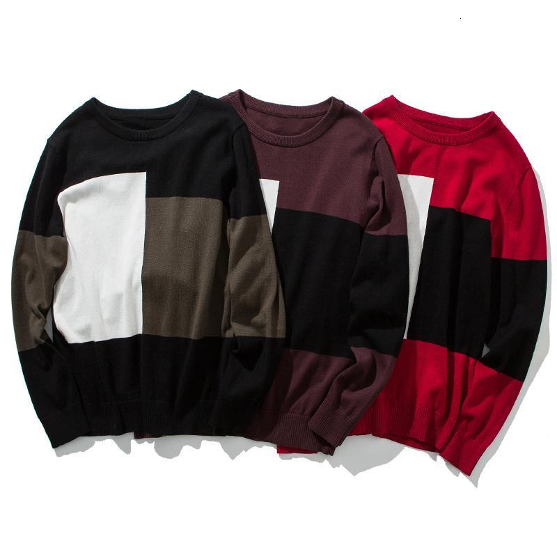 2021 Nouveaux Piliers de coton Hommes Hiver Chaud Hommes Sweater Tops Tops Pull Homme Black Grey Man Vêtements Taille 3XL 6ZPI