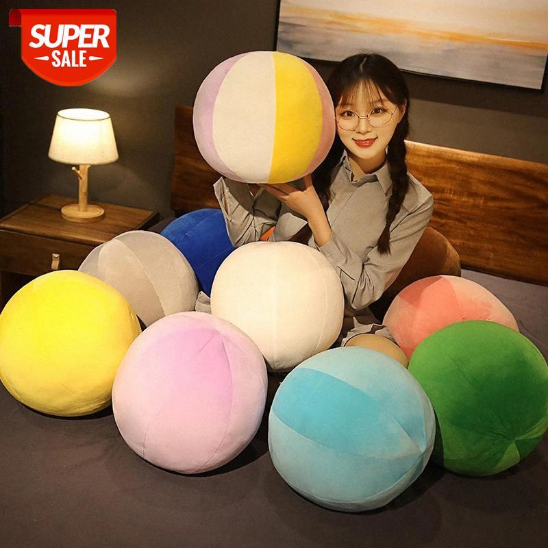 Новый северный стиль радуги сферическая круглая подушка подушка детская комфорта куклы дома диван детская комната украшения день рождения подарок игрушки # JN7N
