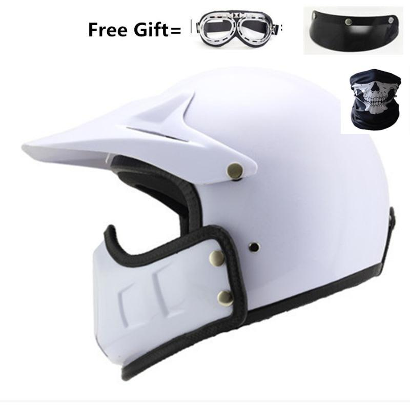 Retro Motorcycle Helmet Personality Combination Full-helmet Composite Half Helmet