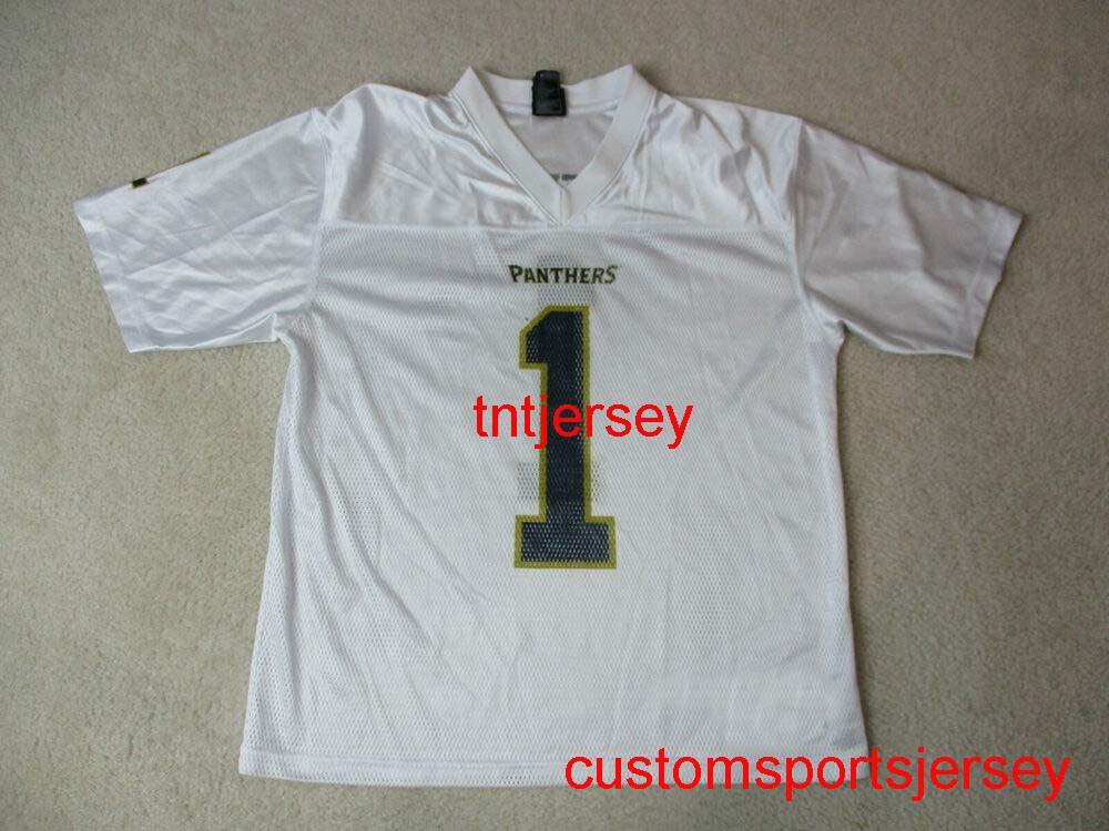 Cheap CUSM Pitt Football Jersey белый синий колледж мужчин женщин желтый стежок добавить любое имя xs-5xl