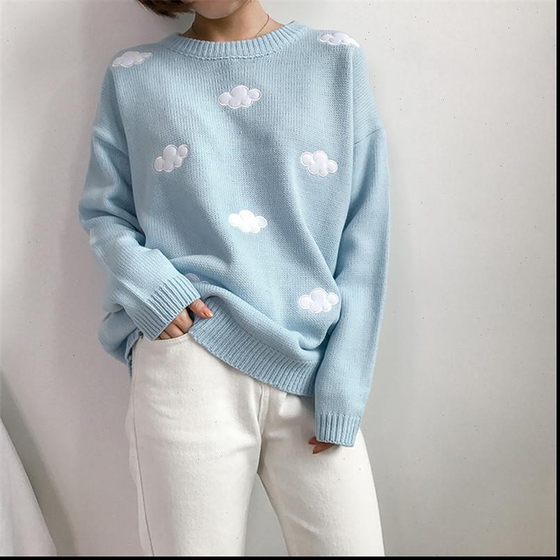 Femmes Kawaii Sweaters à manches longues tricotées Harajuku Pullover jolie pull féminin Pull Femme Drop expédition