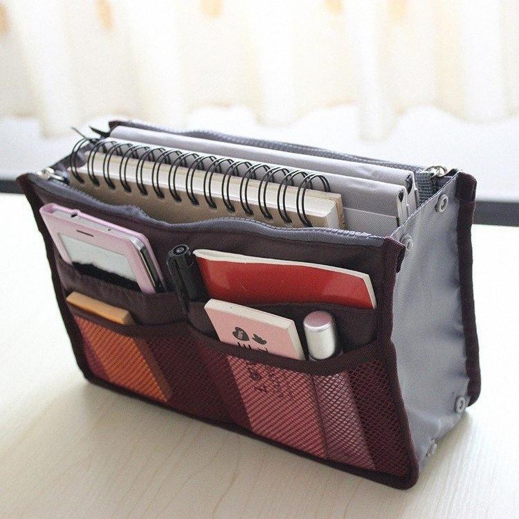 Оптовые - высококачественные косметические сумки вставьте сумочку Организатор кошелька Большой лайнер Tidy Организатор сумка Портативные путешествия составляют сумки для W C5PY #