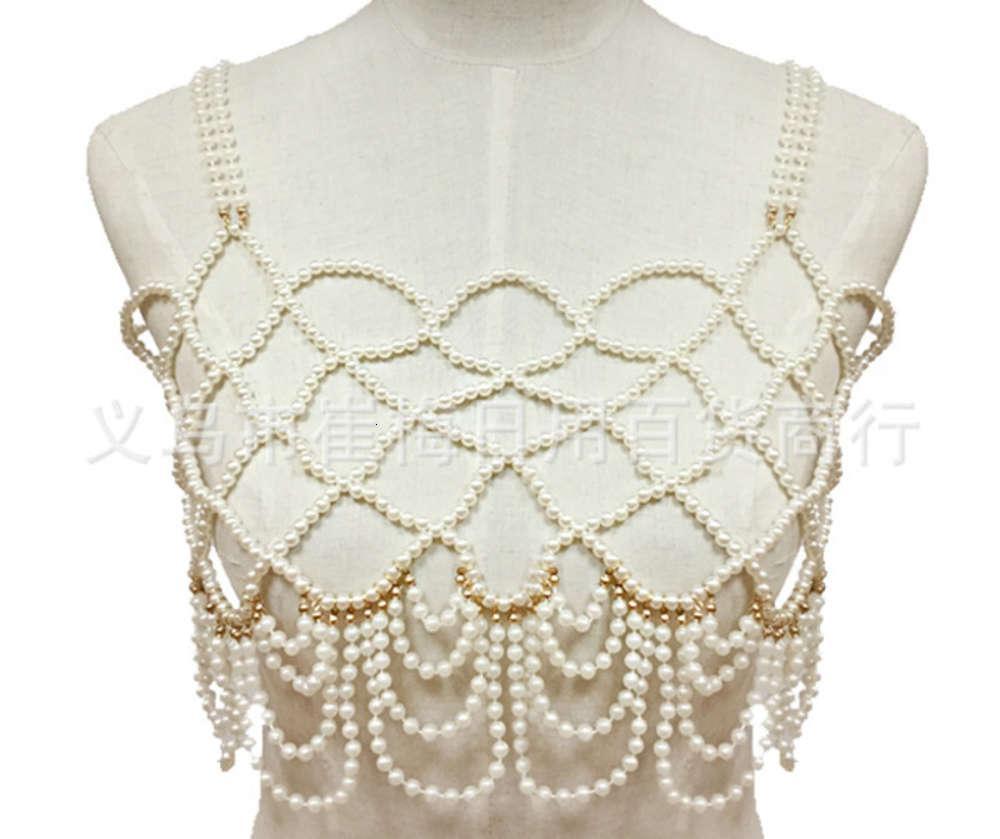 2019 nouveaux bijoux exagéré soutien-gorge de la cornue corporelle gilet de la chaîne collier chaîne collier femelle