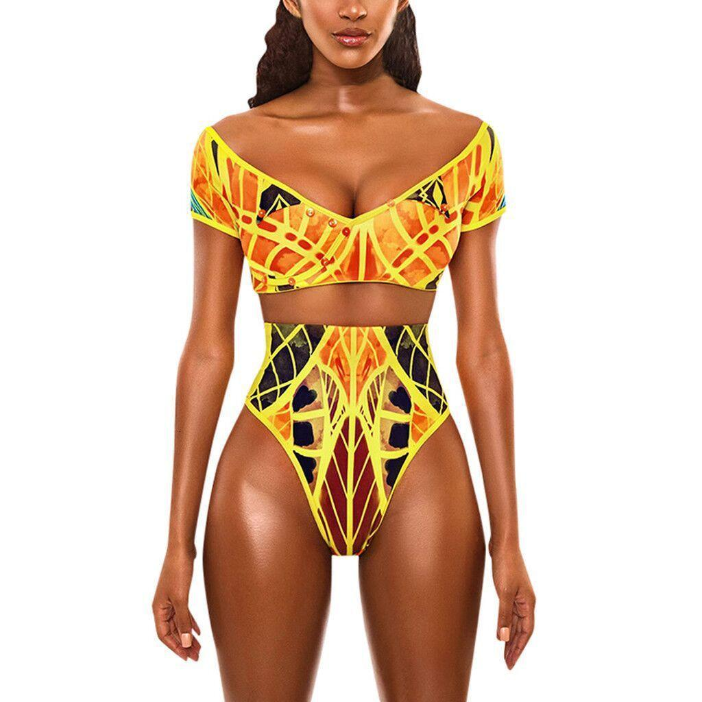 Slim Women's Sexy Bikini Split Swimsuit em 2021