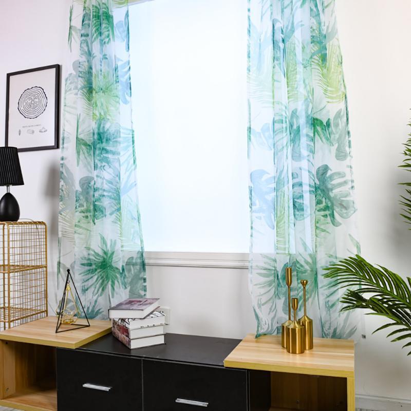 2021 Novas árvores de moda Sheer Cortina Tulle Janela Tratamento Voile Drape Valance Tecido Adequado para Dropship Decoração de Casa # 82840