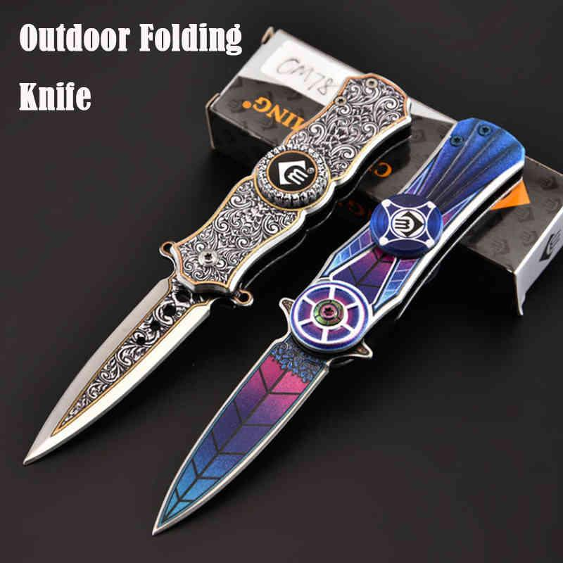Self-defense weapons business knife Outdoor Survival Business Defense Weapons Fingertop Gyro Zakmes Field Practical Rescue Mes Home Travel