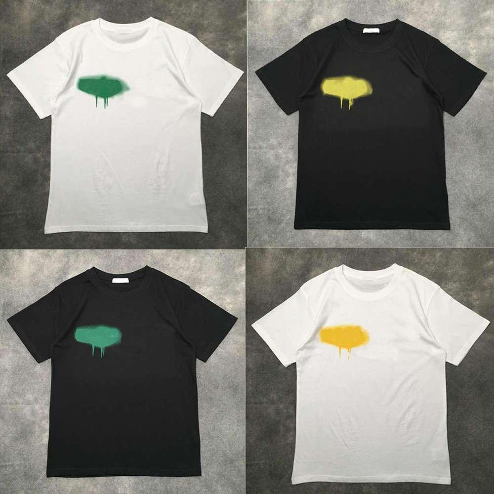 Designer von Luxus T-Shirt Marke Palms Angels T-Shirt PA Kleidung Spray Brief Kurzarm Frühling Sommer Flut Männer und Frauen mit dem gleichen 2021