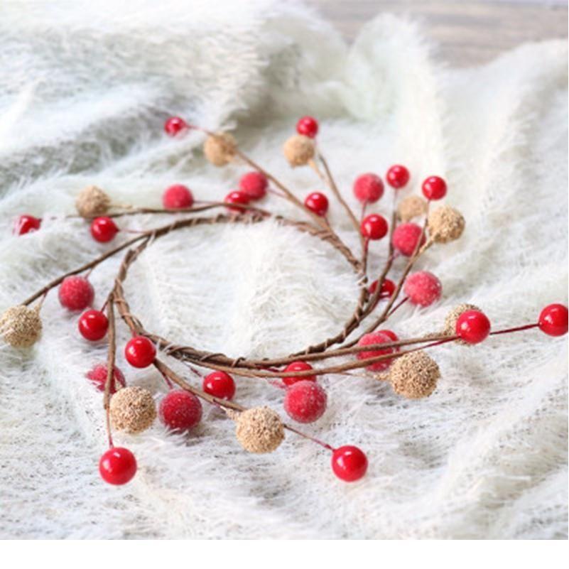 1 unids Boda de novia Tocado decorativo Flores Guirnaldas Plantas Artificiales Fruta de Navidad Accesorios para el hogar Scrapbooking Jllebx