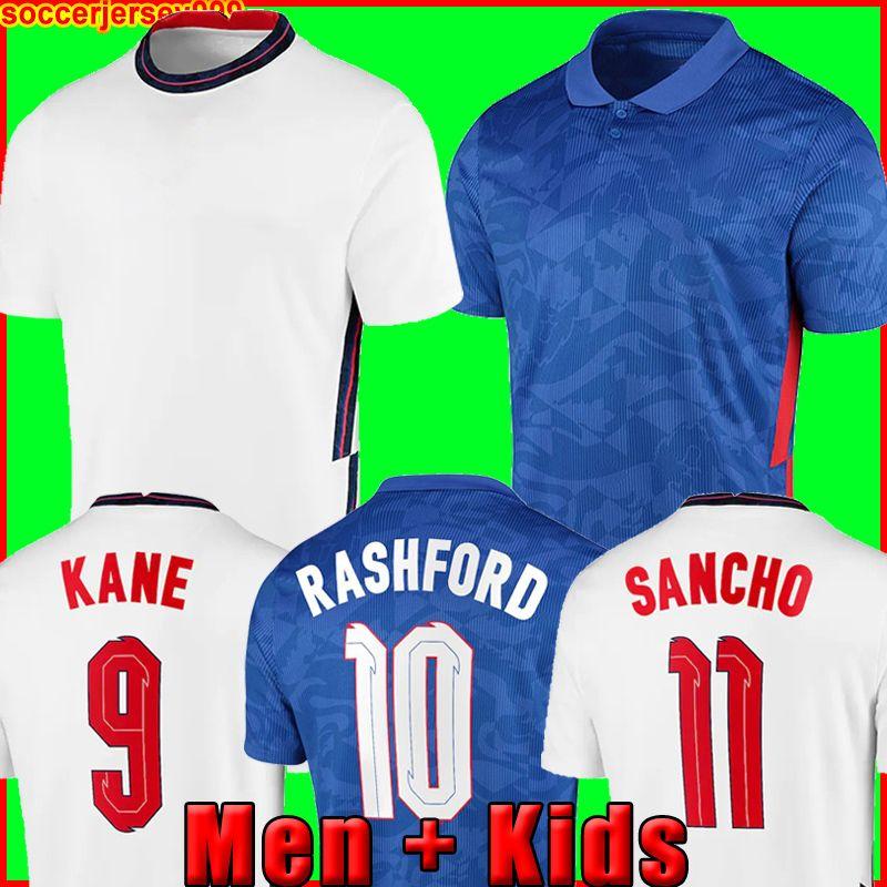 England İngiltere futbol forması Euro kupası 2020 KANE STERLING VARDY RASHFORD DELE 20 21 milli takımlar futbol gömlek erkekler + çocuklar kiti üniformaları 999