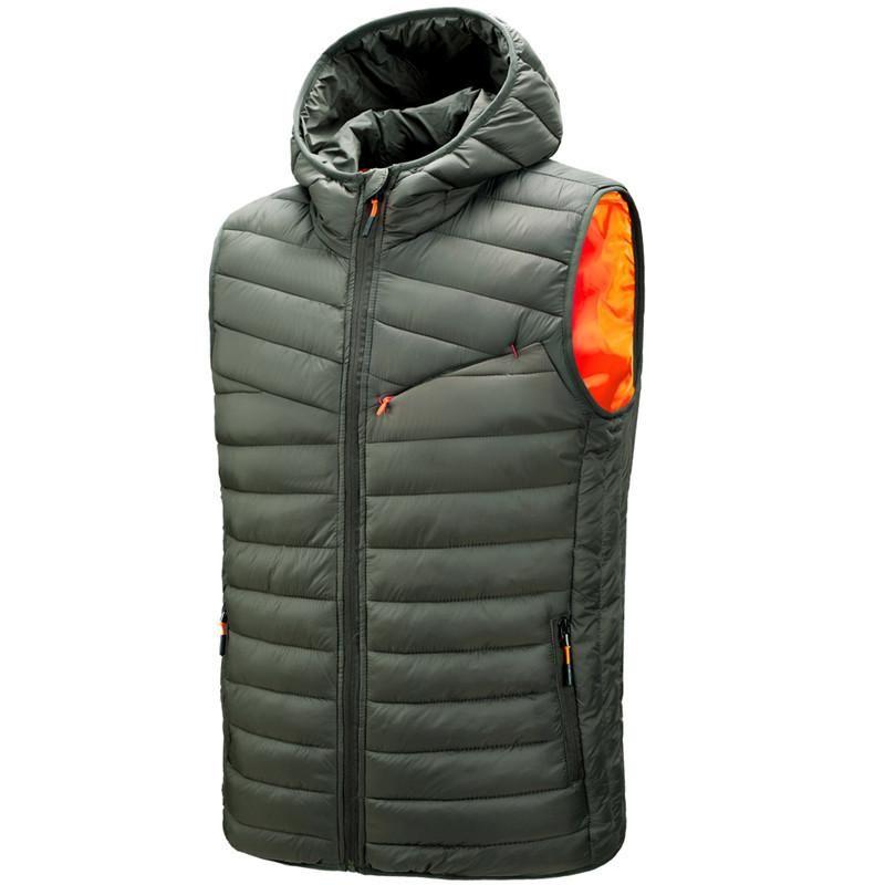 Erkek Yelekler Erkekler Kış 100% Polyester Yelek Çekim Yelek Jile Kolsuz Ceket Erkek Amerikan Askeri Biker Giyim