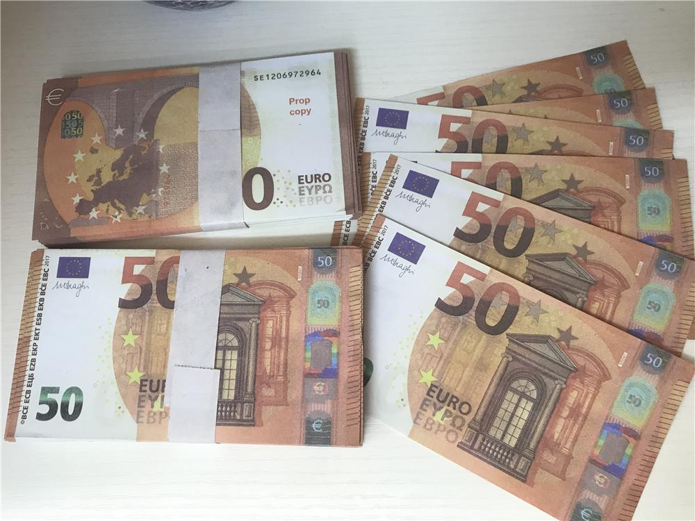 2021 Grenzüberschreitender Hot-Selling-Filmgeld Euro 50 Papierkopie-Banknote-Prop-Geld Euro 100pcs / Pack 033