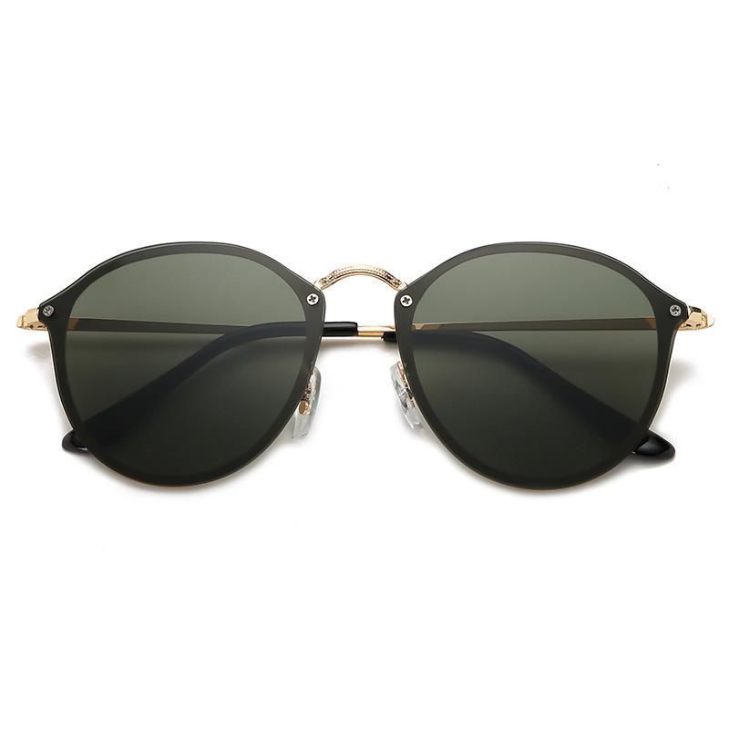 Marca Designer Piloto Óculos de Sol para Casal Outdoorsman Eyewear Ouro Brown 58mm Sun Óculos de Luxo com casos