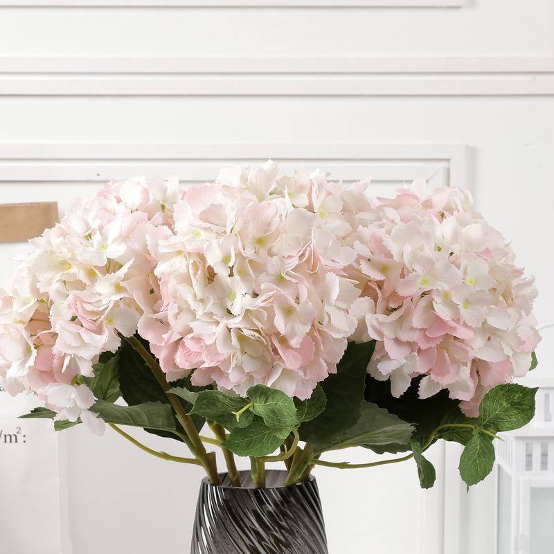 Yapay Büyük Çiçekler Ortanca Güzel İpek Büyük Sahte Buket Gelin Düğün Ev Dekorasyon Masa Faux Çiçek