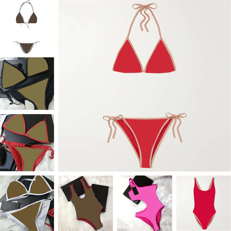 Womens Bikinis 원피스 수영복 숙녀 섹시한 백스 수영복 편지 여름 수영 수영장 비키니 여성을위한