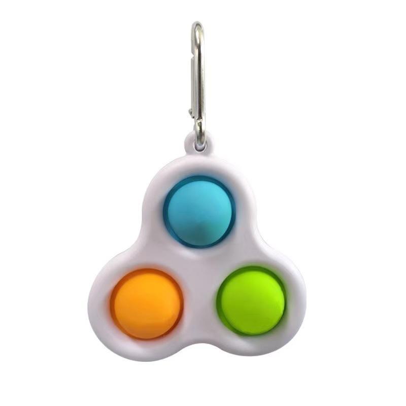 Stres Kabartma Fidget Basit Demple Pop Oyuncaklar Üçgen Küçük Anahtarlık Kolye İtme Kabarcıkları Otizm Özel İhtiyaç Yetişkin Çocuklar