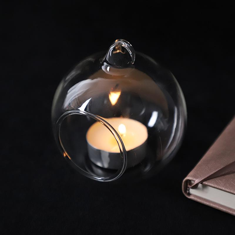 60mm Asılı Tealight Tutucu Cam Küre Teraryum Düğün Mumluk Şamdan Vazo Ev Otel Bar Dekorasyon AHC3527 530 R2