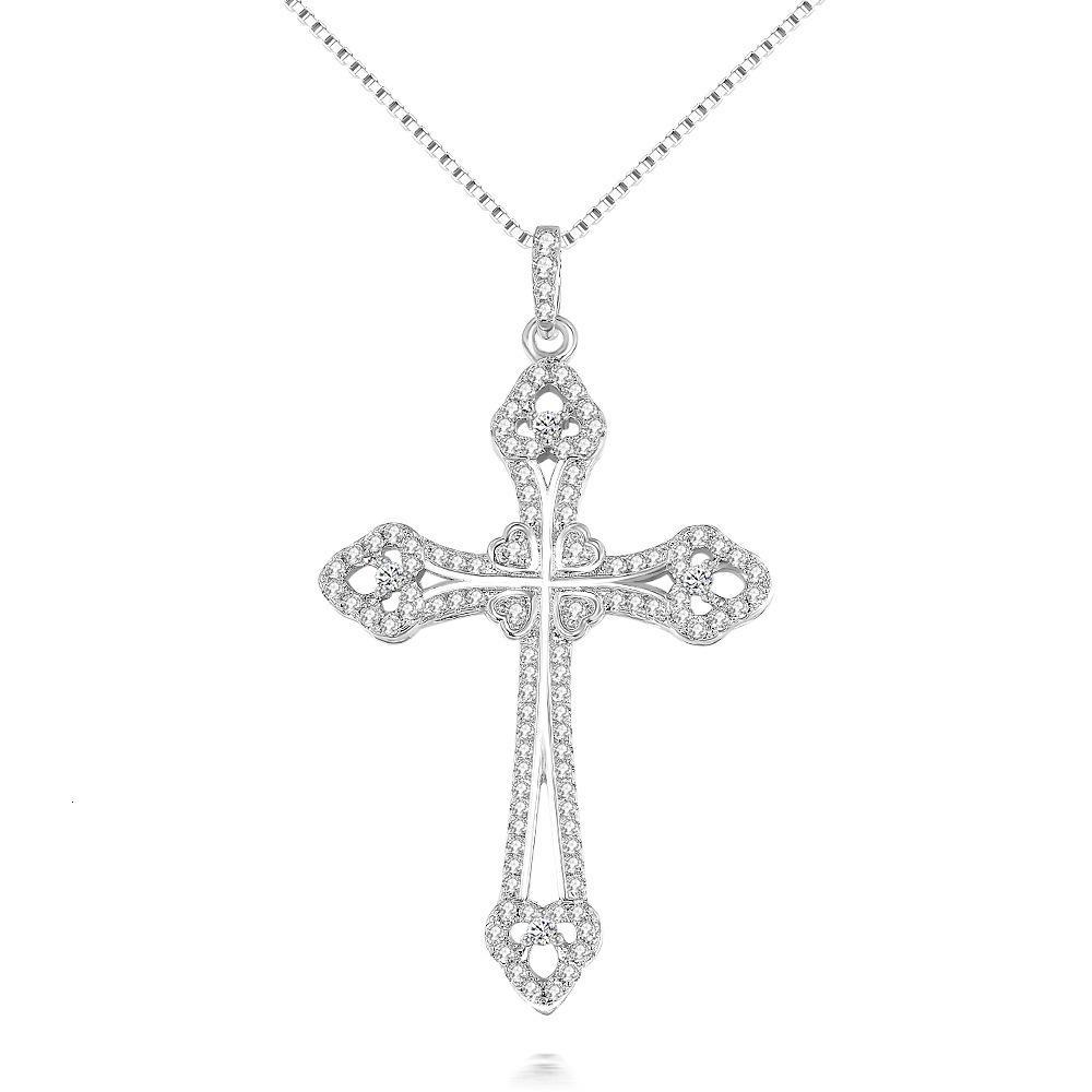HBP Luxury 2021 Fashion Multi Diamond Jesus Cross High End Exquisito Micro Incrustado Inlaid Collar