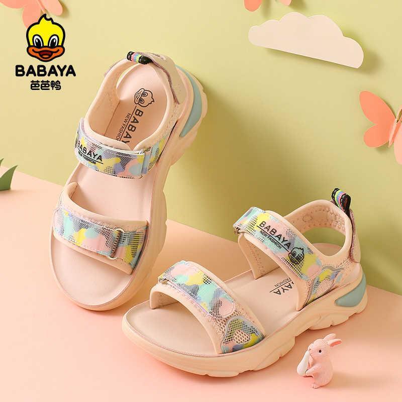 바바야 어린이 샌들 소녀 오픈 노마 해변 신발 2021 여름 새로운 소프트 솔 워드 캐주얼 샌들 통기성 스포츠 신발 C0602