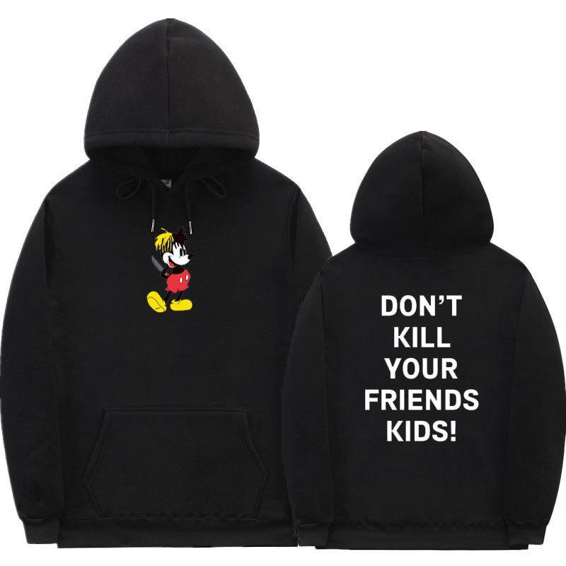 2021 Yeni XXXTentacion Rapper Micky Arkadaşının Çocuklarını Öldürme Moda Rahat Baskı Hoodies Kazak Hoodie Erkek Kadın 64Q4