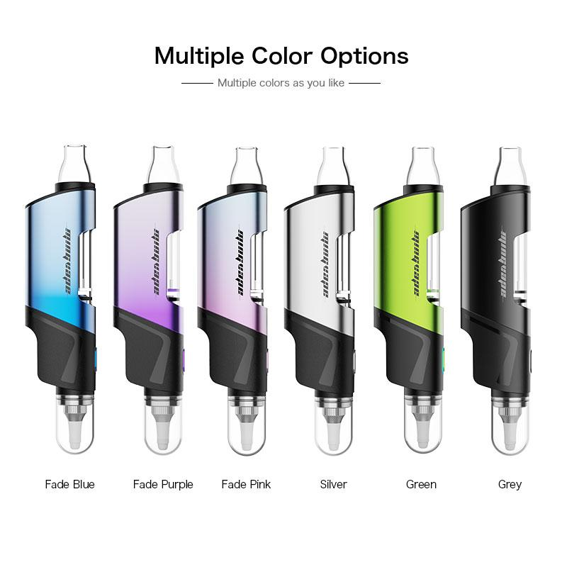 Enail kit Mingvape Dippo Smoking Pipe With Paper Bag 650mAh Dry Herb Wax Pen Quartz Tip Glass Filter Bubbler