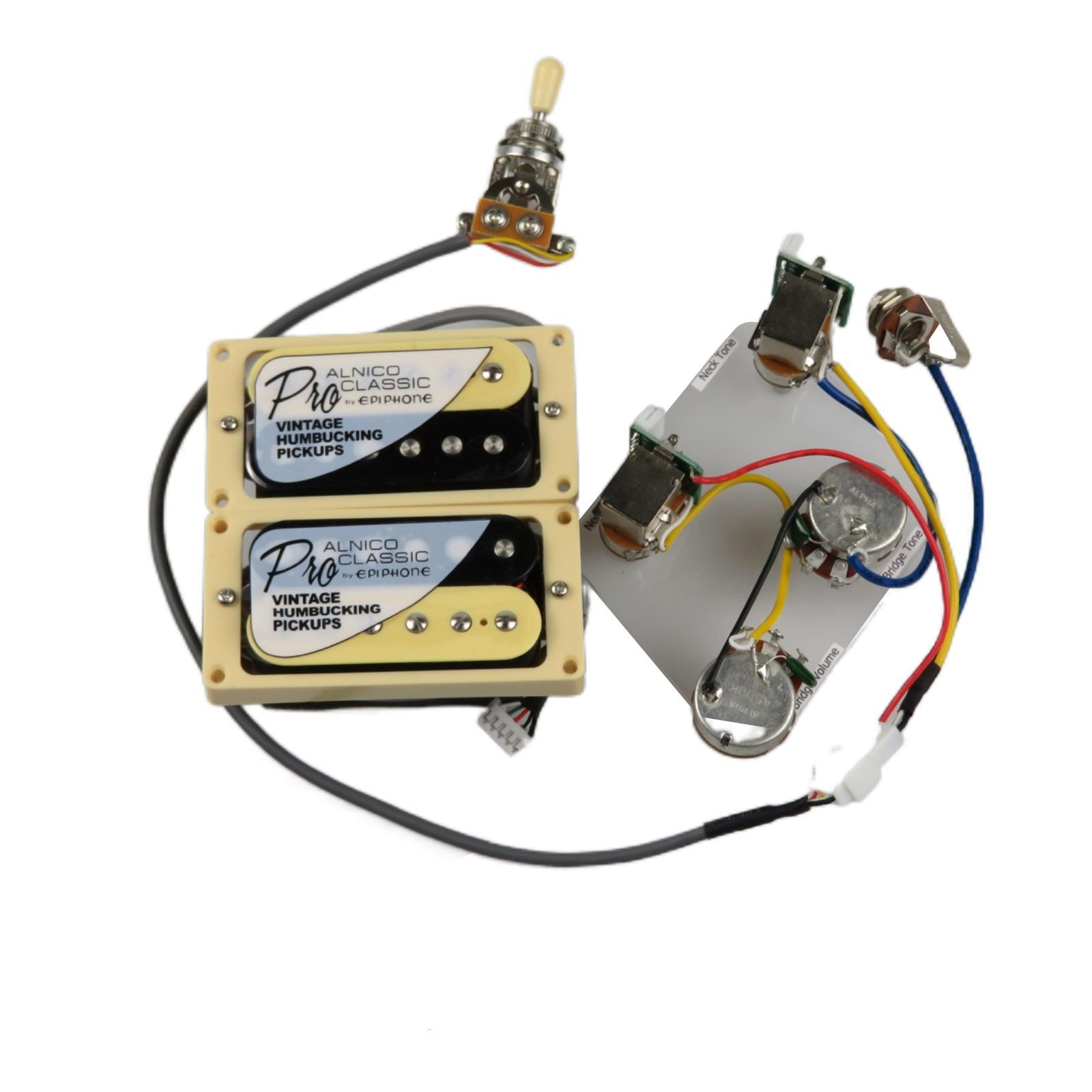 Zebra Humbucker Pickups Alnico 5 Probucker Push / Pull Wiring Cablaggio Pickup per chitarra elettrica per Gibson