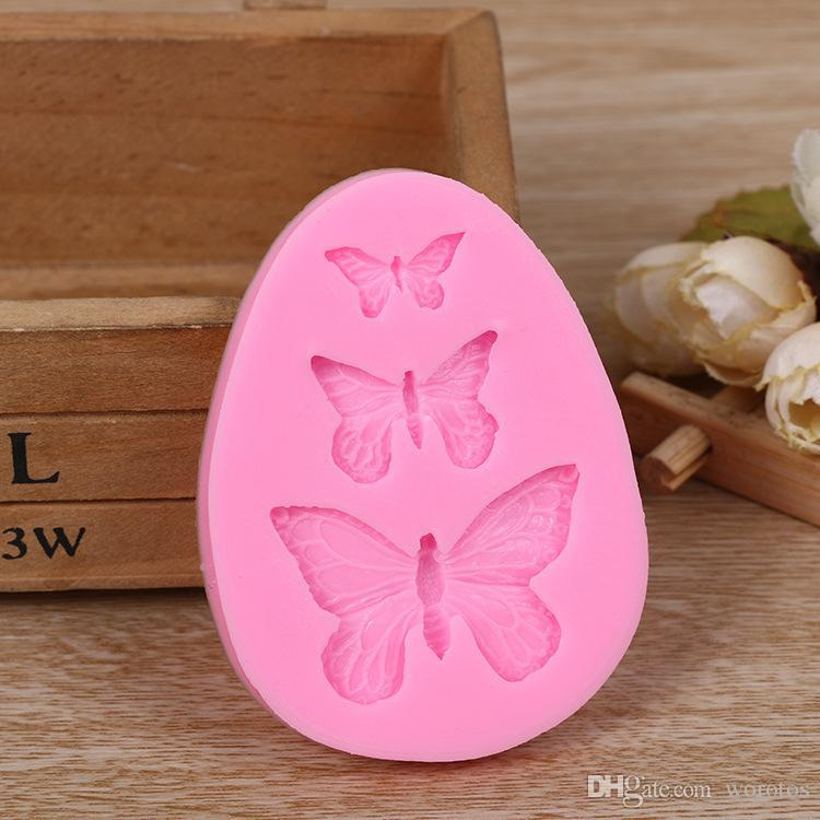 Candy muffa slipfly farfalla fondente stampo al cioccolato sapone rendimento strumento torta decorazione mousse fai da te strumento di cottura piccolo