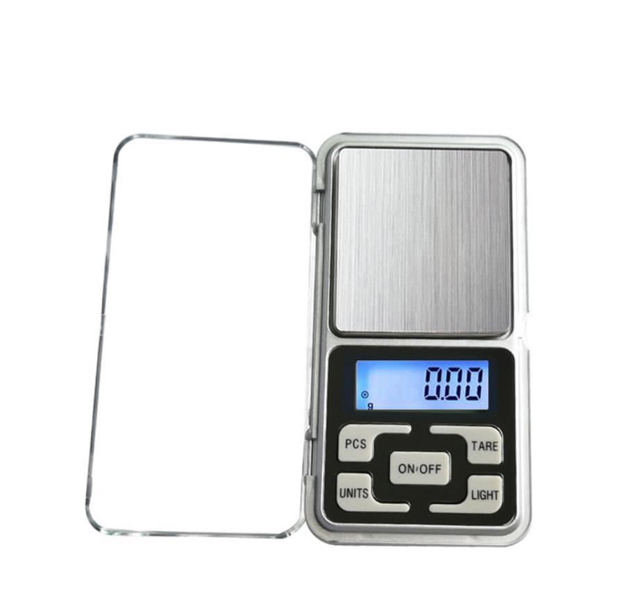 Mini Electronic Digital Bilancia Digital Bilancia Bilancia Bilancia Pocket Gram Display LCD Scala con scatola al minuto 500G / 0.1G 200G / 0,01G