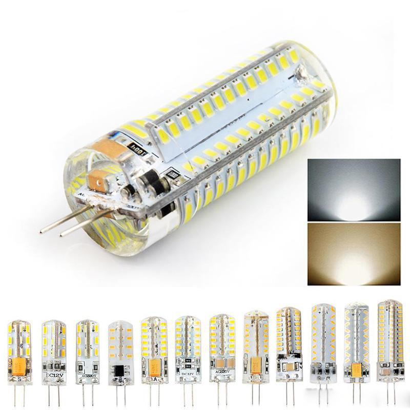 قاد المصابيح G4 1.5 واط 3 واط 4 واط 7 واط dc12v ac220 فولت الذرة الصمام الخفيفة مصابيح سيليكون ل كريستال الثريا قلادة مصابيح المصابيح
