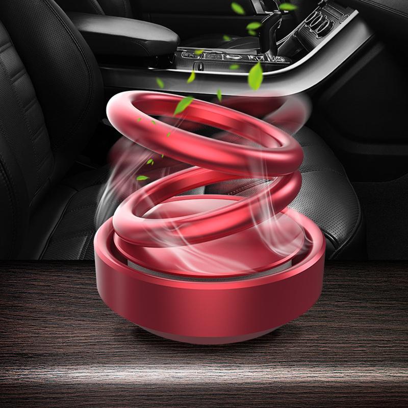Voiture aromathérapie double bagues à double suspension rotative raforcir le tableau de bord de paqueboard voiture de parfum voiture par parfum voiture ornement