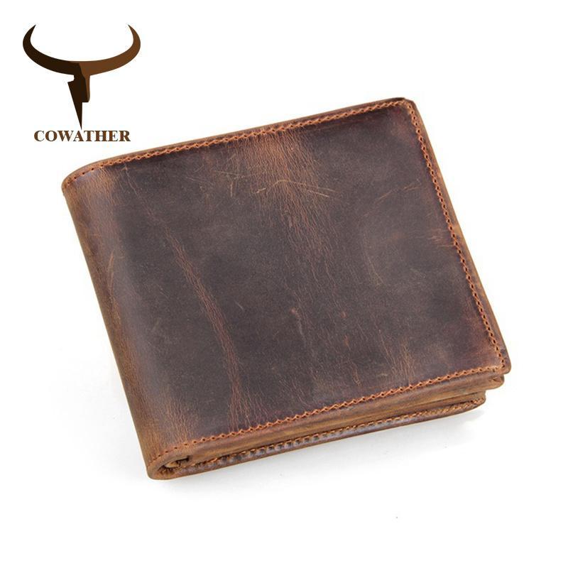 100% Top Quality Cow Genuine couro homens carteiras de luxo, preço de dólar estilo curto bolsa masculino, carta masculina marca original 210311