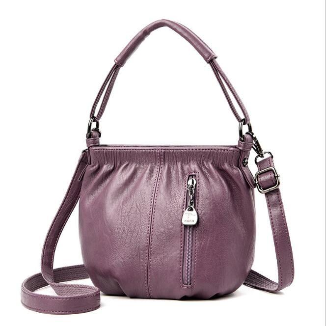 Senhoras bolsas senhoras couro diagonal ombro grande saco de compras europeu e americano retro grande capacidade de balde sacola