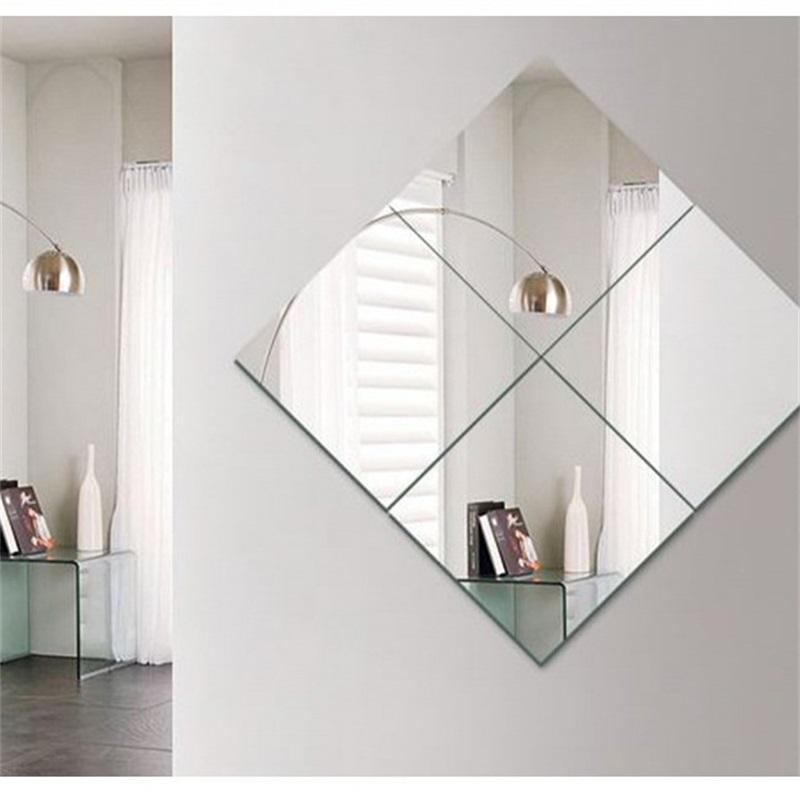 4pcs Decorative Self Adhesive 3D Tile Wall Mosaic Mirror Effect Room Square DIY Home Decor Stickers 30x30cm Y200103 750 K2