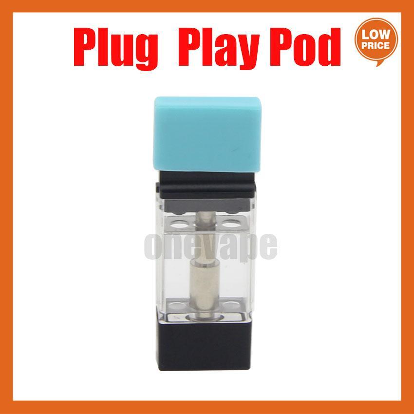Plug Play Vape Pods Play Аккумуляторный картридж Керамическая катушка 1.0 мл Толстый распылитель масла Высокопроизводительные VFire Vaporizer Аккумуляторная тележка