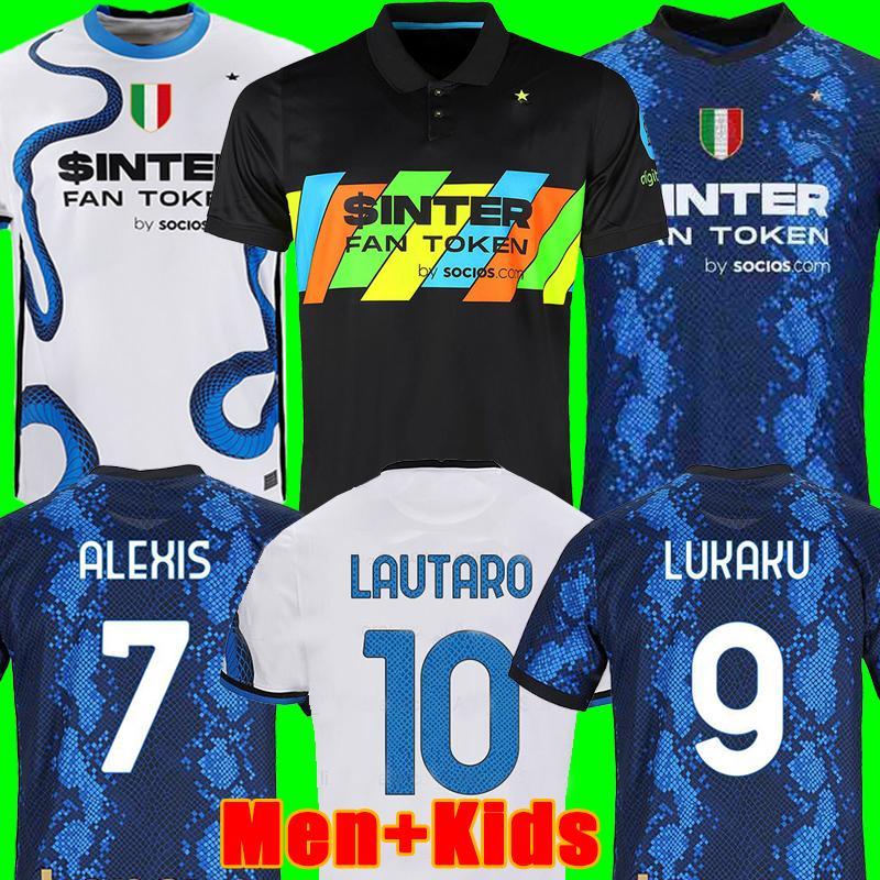Inter Mailand Fußball Trikot Inter milan soccer jersey football shirt VIDAL BARELLA ERIKSEN LUKAKU LAUTARO 21 22 Fußball-Trikot 2022 2021 Maglia da Calcio vierter 4 ..