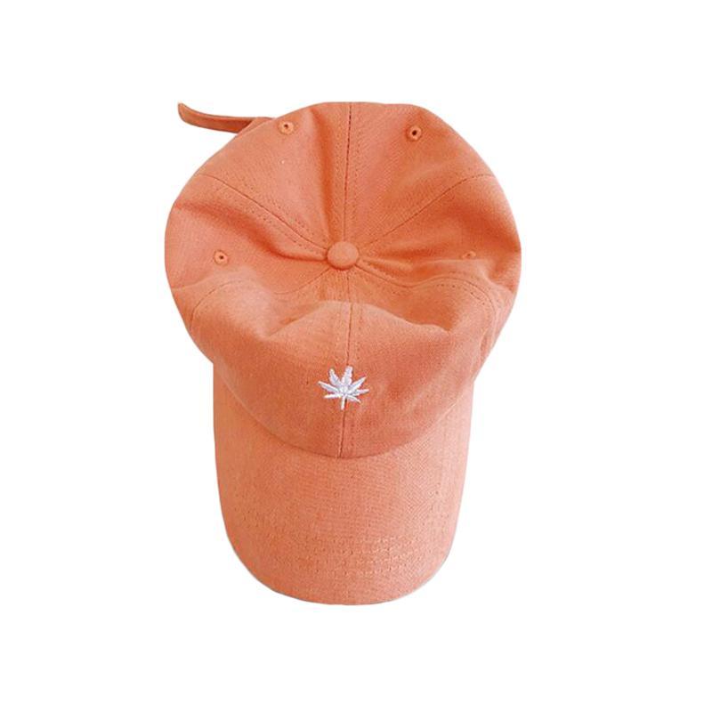 Nueva gorra de béisbol para mujer y para hombre primavera verano color sólido hojas de bordado deportes al aire libre sol sombrero sombrero hip hop tops tg0270