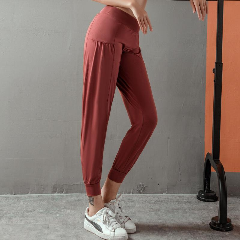 Loose-fitting foot Closing Running Fitness pants Thin Section Sports pants Women quick-drying High Waist Sports yoga trousers X0131