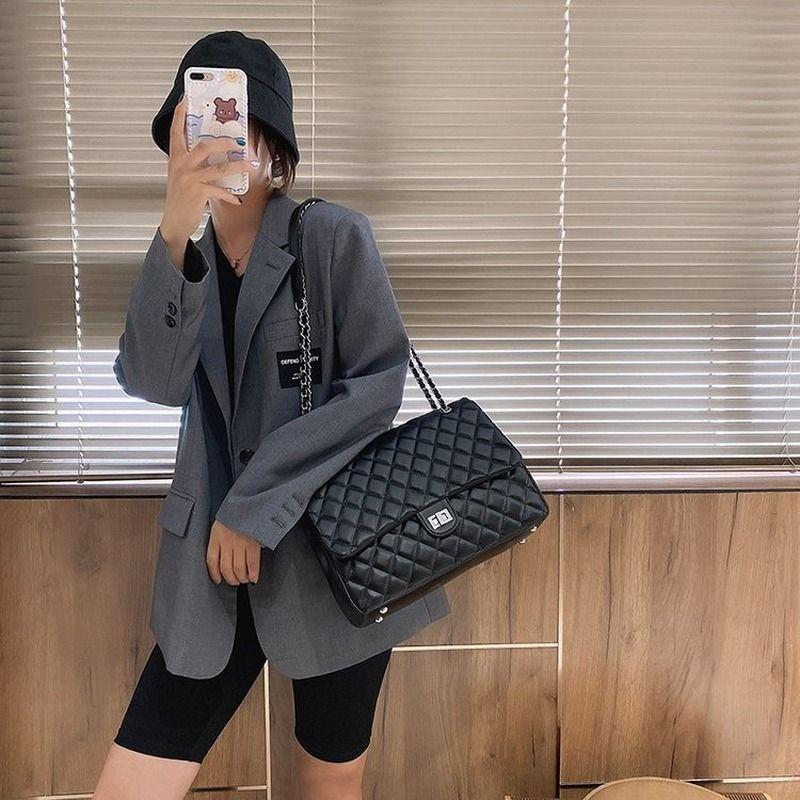 Marca Designer Bolsas 2020 Nova Versão Coreana de Capacidade Rhombic Chain Chain Bag Moda All-Match Messenger Bag