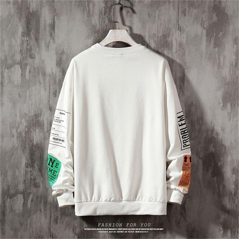 Imprimir Hoodies Carta Superized Pullover Sueter Hoodies Homens Harajuku Hip Hop Hipster Streetwear Hoodie Tops LJ201222