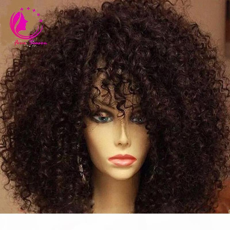 Бразильская девственница Cinky Curly U Part Wig Кудрявые человеческие волосы наматывают парик для чернокожих женщин с гребнями и ремешком 130-180 плотность Бесплатный корабль