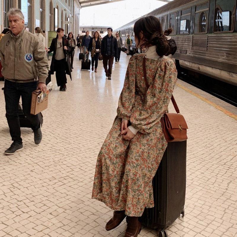Французское цветочное платье Zixian Studient Женская 2021 Новая модная талия Slim Dress