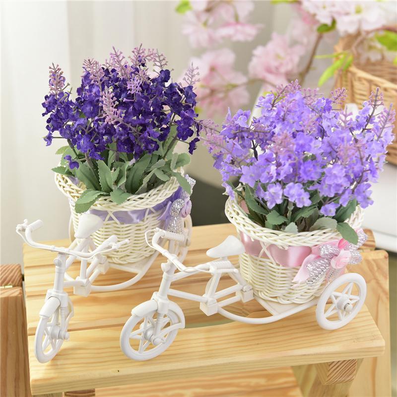 Dekorative Blumen Kränze Künstliche Lavendelblume Home Möblierung Floats Fahrradkorb Weaving Simulation Set Diamant