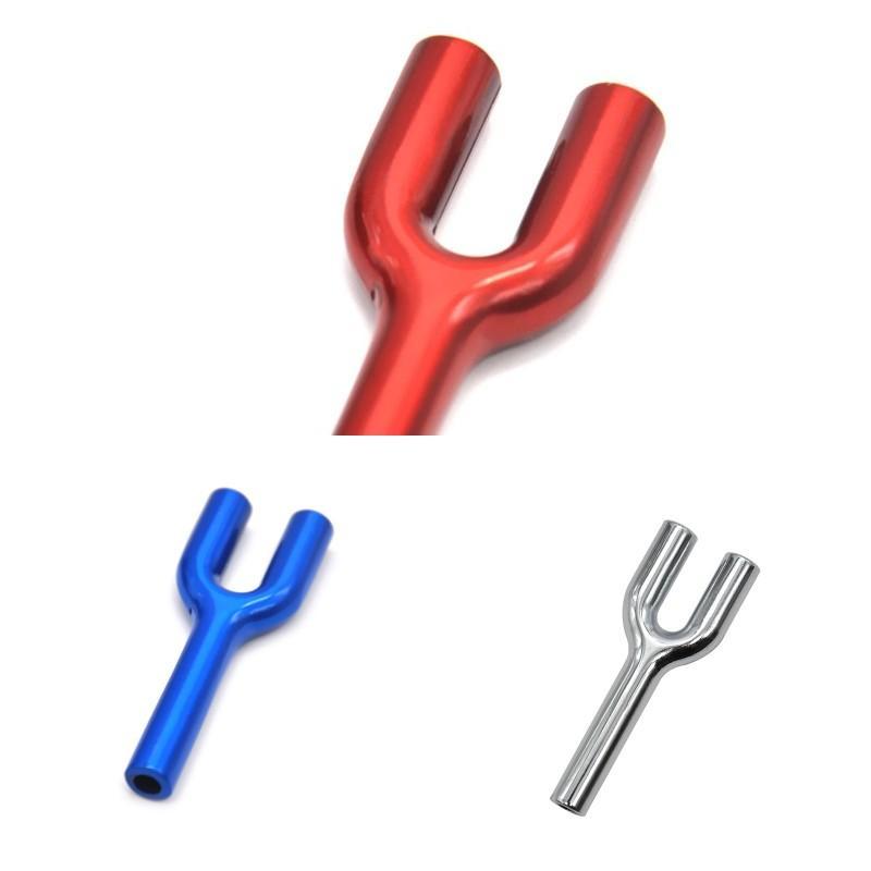 Wholesale Красочные металлические Hoover Hoover Pullet Двойные трубы Snort Snorter Dispenser Nasal Курительная труба для курить 92 V2