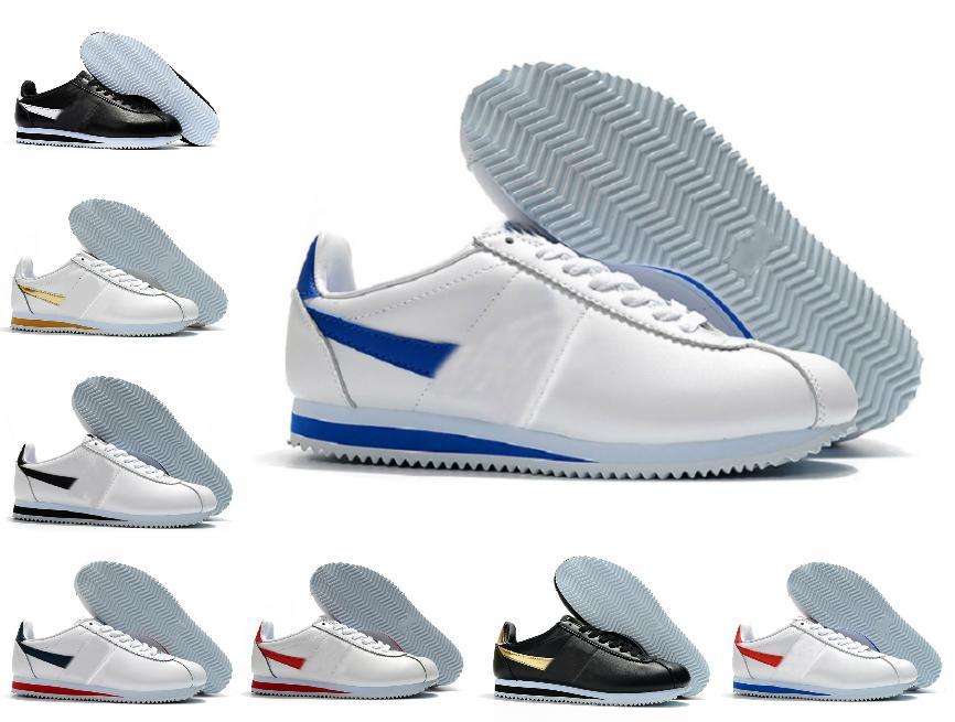 2021 Classic Cortez Nylon RM White Varsity Royal Rouge Running Shoes Basic Premium Bleu Noir Bleu Léger Chaussures Cortez Cootzs Cuir BT QS Sneakers en plein air
